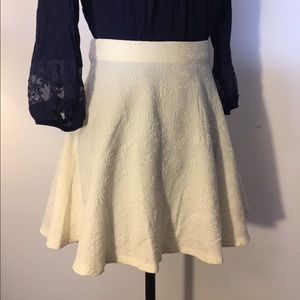 Ivory Floral Circle Skirt